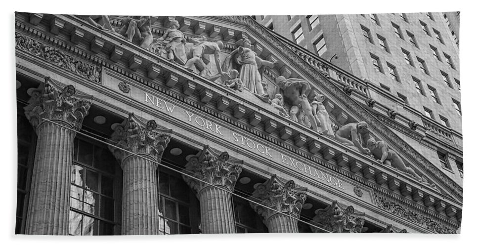 New York Stock Exchange Bath Sheet featuring the photograph Nyse New York Stock Exchange Wall Street by Susan Candelario