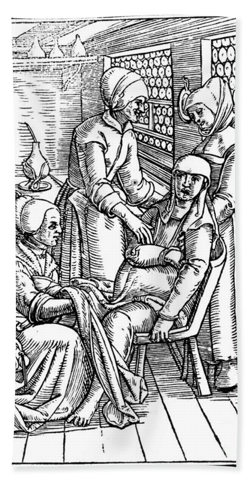 1554 Bath Sheet featuring the photograph Obstetrical Chair by Granger