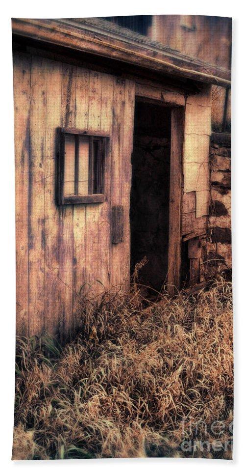 Barn Hand Towel featuring the photograph Old Barn Door by Jill Battaglia