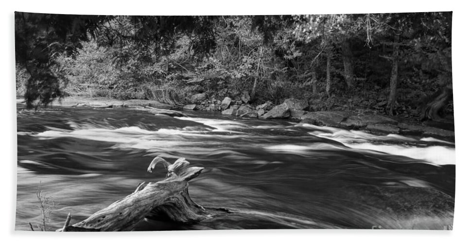 Rivers Bath Sheet featuring the photograph Going Down Stream by Jeffery L Bowers