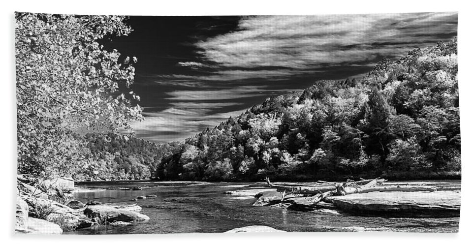 Landscape Hand Towel featuring the photograph On The River by Ken Frischkorn