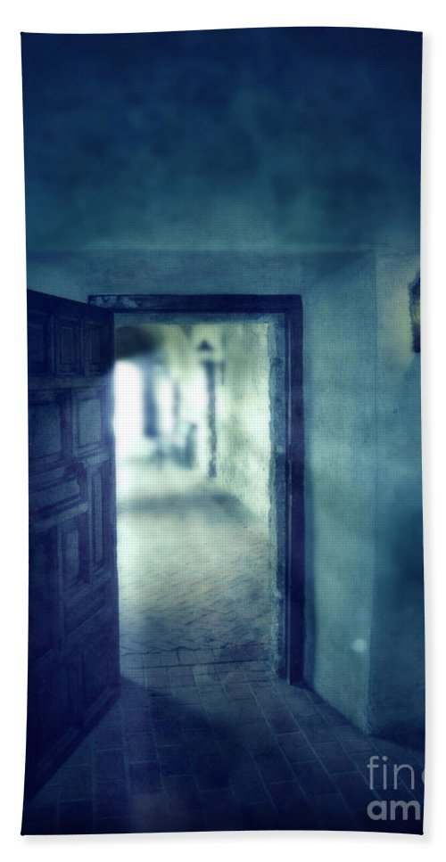 Dark Bath Sheet featuring the photograph Open Door by Jill Battaglia
