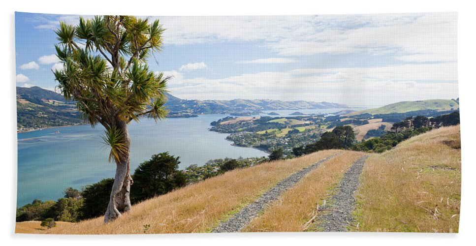 South Island Bath Sheet featuring the photograph Otago Peninsula Coastal Landscape Dunedin Nz by Stephan Pietzko