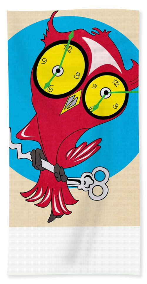 Owl Hand Towel featuring the painting Owl by Mark Ashkenazi