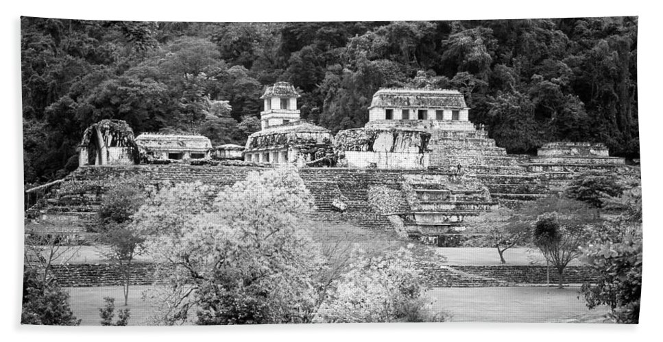 America Hand Towel featuring the photograph Palenque City by Roy Pedersen