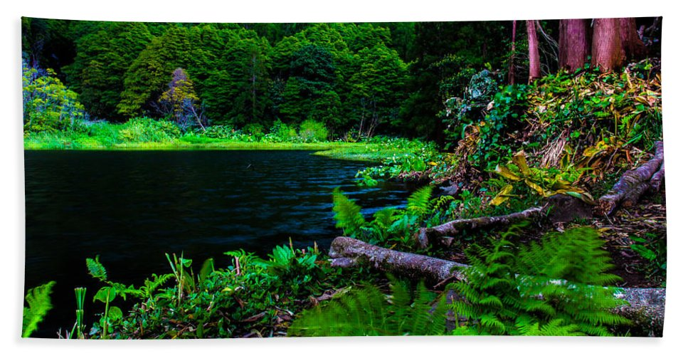 Azores Hand Towel featuring the photograph Paradise by Edgar Laureano