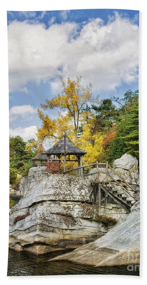 Mohonk Hand Towel featuring the photograph Partly Cloudy by Claudia Kuhn