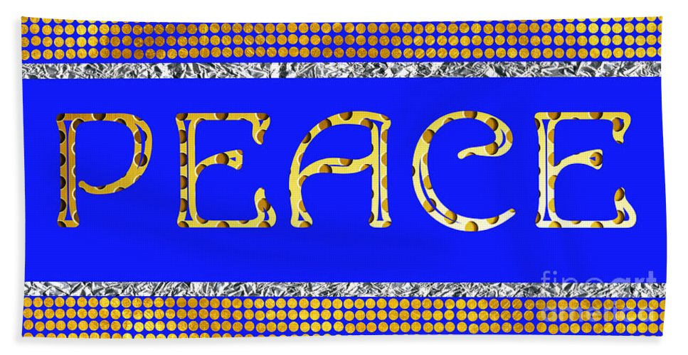 Eace Hand Towel featuring the photograph Peace by Mariola Bitner