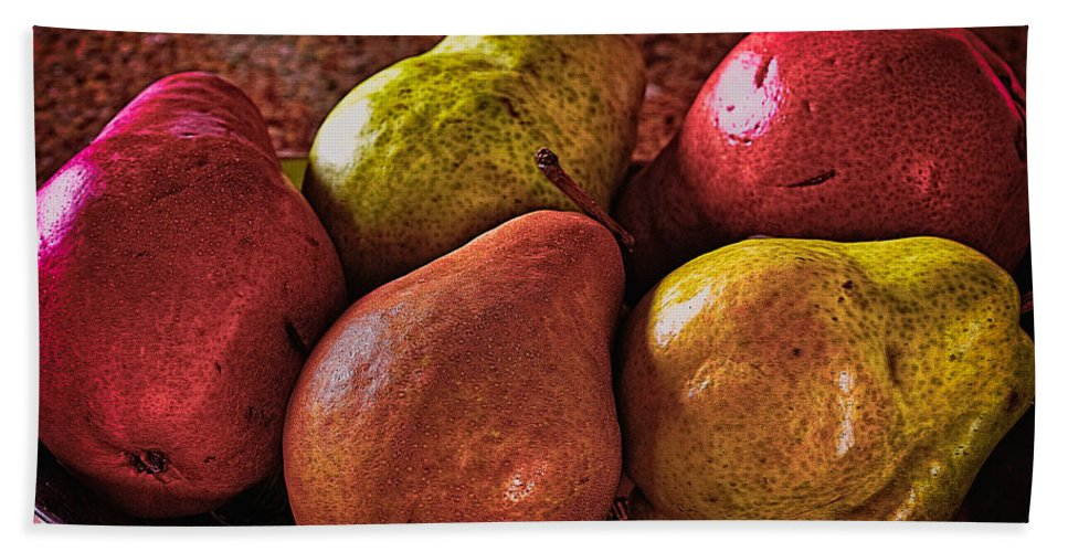 Pear Hand Towel featuring the photograph Pears by Charles Muhle