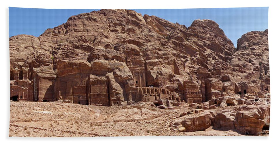 The City Of Petra Itself Hand Towel featuring the photograph Petra by Neil Pollick