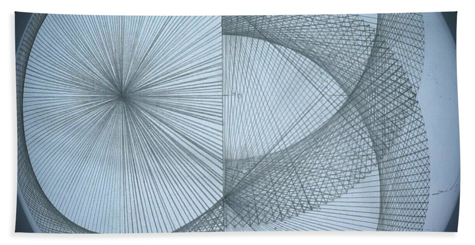 Photon Hand Towel featuring the drawing Photon Double Slit Test by Jason Padgett