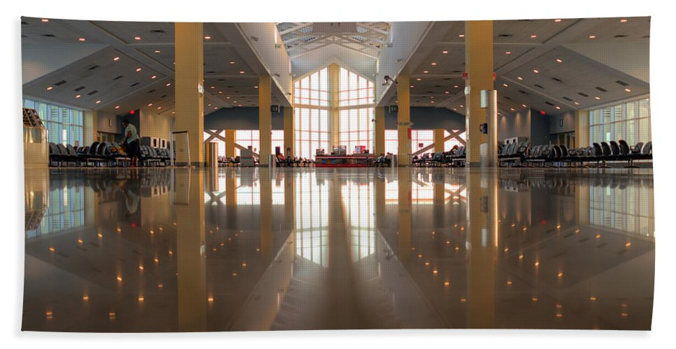 Trinidad Bath Sheet featuring the photograph Piarco Airport Trinidad by Ferry Zievinger