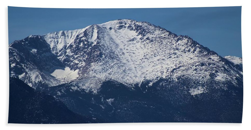 Pikes Peak Bath Sheet featuring the photograph Pikes Peak by Wendy Fox