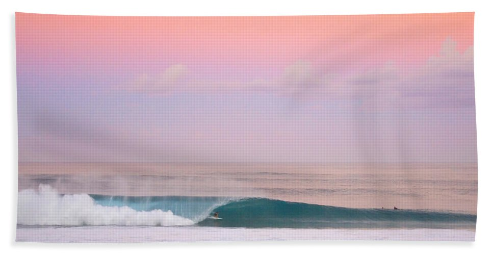Pipeline Hand Towel featuring the photograph Pink Pipe by Sean Davey