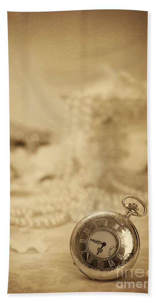 Old Hand Towel featuring the photograph Pocket Watch by Amanda Elwell