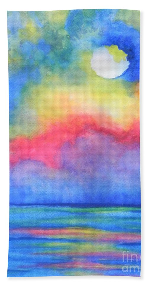 Fine Art Painting Bath Sheet featuring the painting Power Of Nature by Chrisann Ellis