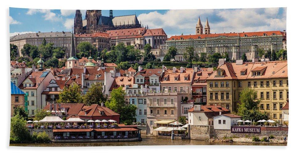 Prague Bath Sheet featuring the photograph Prague Castle by Shirley Radabaugh