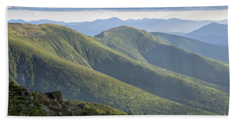 Black Spruce - Balsam Fir Krummholz Bath Towel featuring the photograph Presidential Range - White Mountains New Hampshire by Erin Paul Donovan