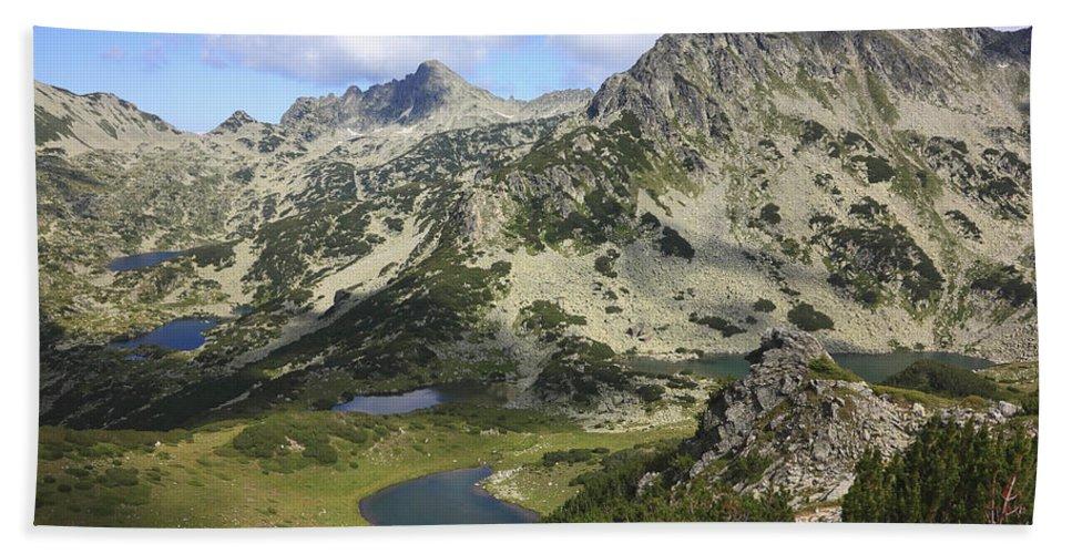 Balkan Peninsula Hand Towel featuring the photograph Prevalski And Valyavishki Lakes Pirin National Park Bulgaria by Ivan Pendjakov