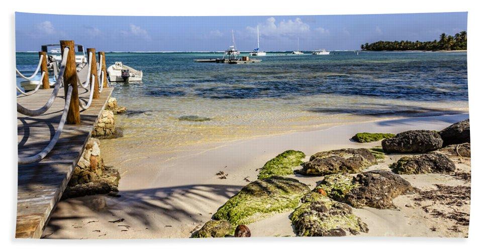 Punta Cana Beach Bath Sheet featuring the photograph Punta Cana Beach by Viktor Birkus
