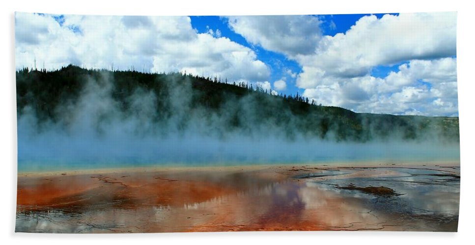 Yellowstone National Park Bath Sheet featuring the photograph Pure Beauty by Catie Canetti