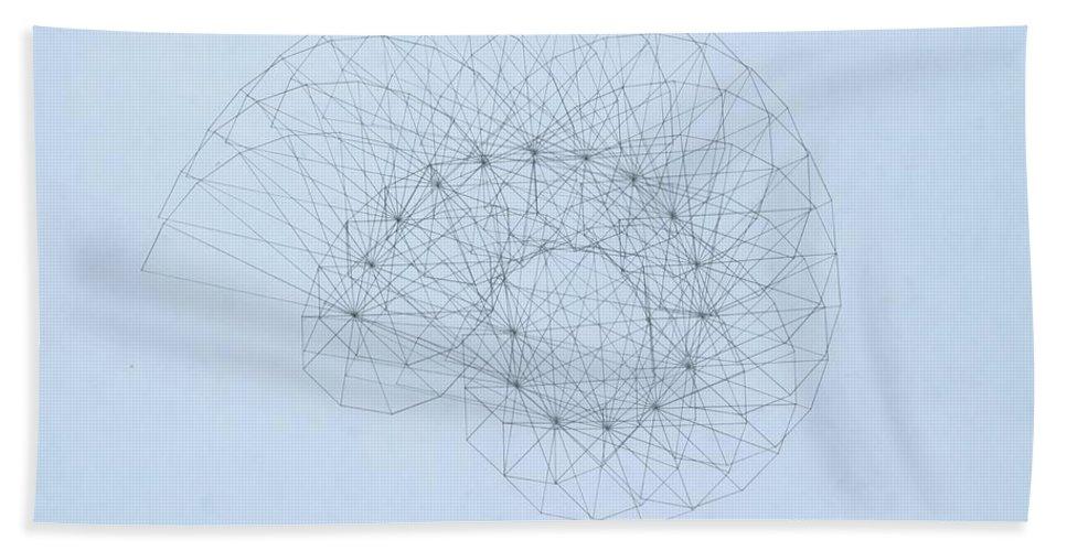 Jason Padgett Hand Towel featuring the drawing Quantum Nautilus by Jason Padgett