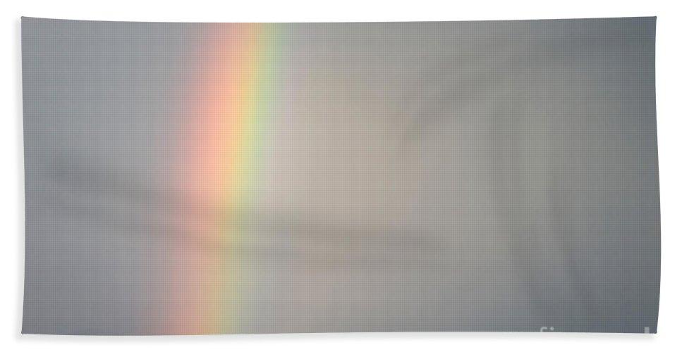Landscape Bath Sheet featuring the photograph Rainbow by John Shaw
