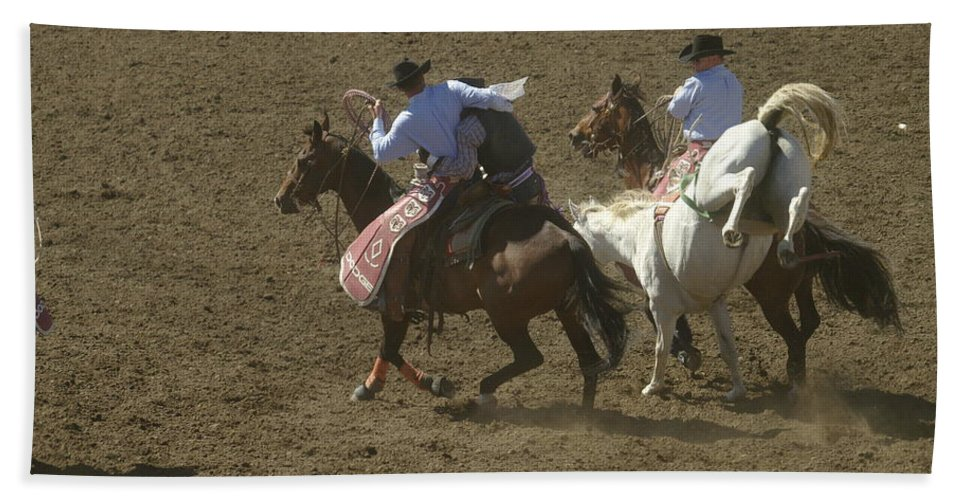 Rodeo Hand Towel featuring the photograph Rescued by Jeff Swan