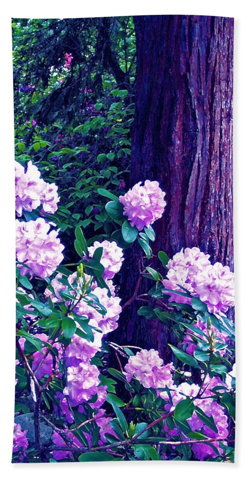 Flowers Bath Sheet featuring the photograph Rhododendron by Pamela Cooper