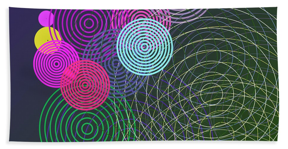 Circles Hand Towel featuring the digital art Ripple Effect by Gaspar Avila