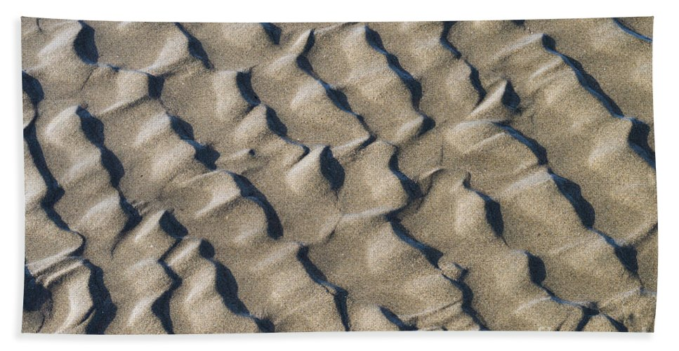 Nature Bath Sheet featuring the photograph Ripple Pattern On Mudflat At Low Tide by John Shaw