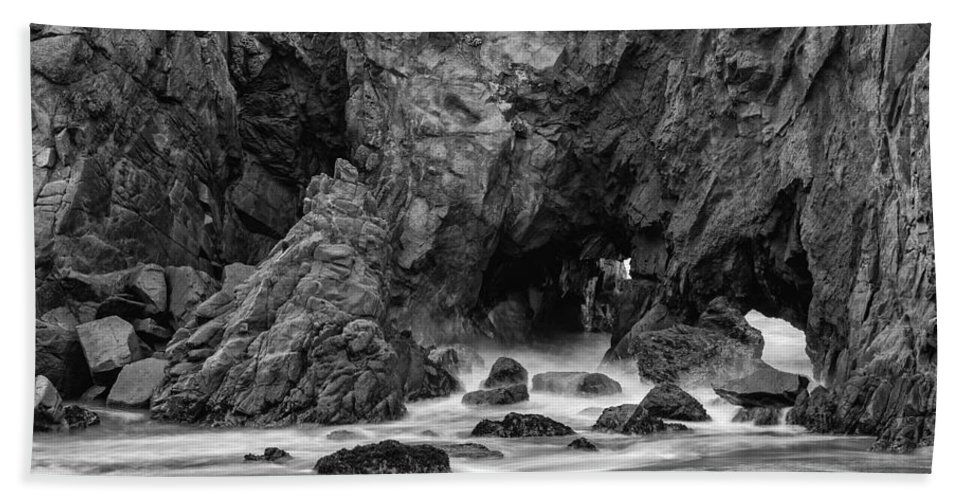 Rocky Surf Hand Towel featuring the photograph Rocky Surf 2 by George Buxbaum