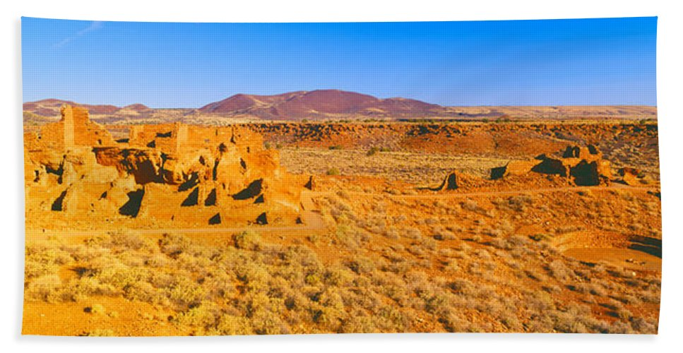 Photography Hand Towel featuring the photograph Ruins Of 900 Year Old Hopi Village by Panoramic Images