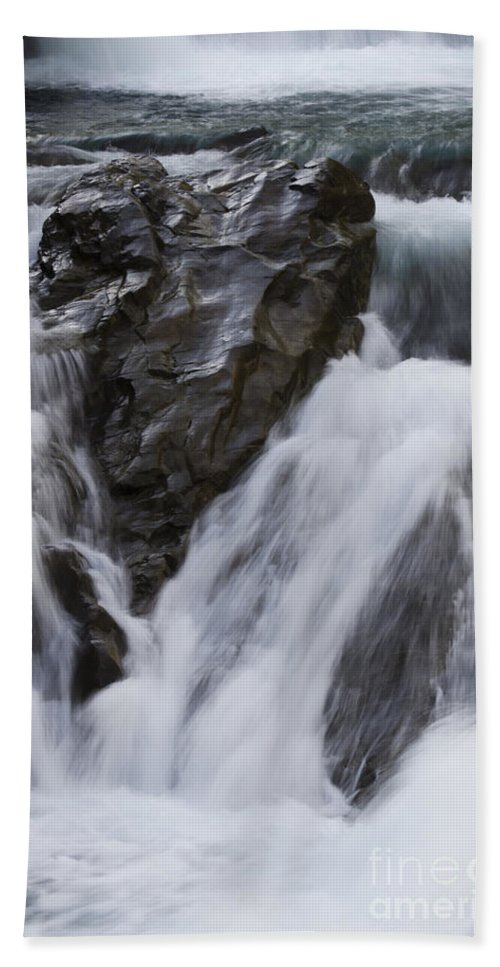 Sheep River Hand Towel featuring the photograph Run River Run 3 by Bob Christopher
