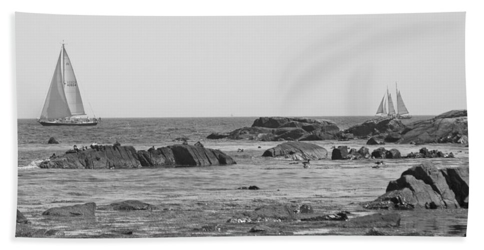 Kennebunkport Bath Sheet featuring the photograph Sailing by Betsy Knapp