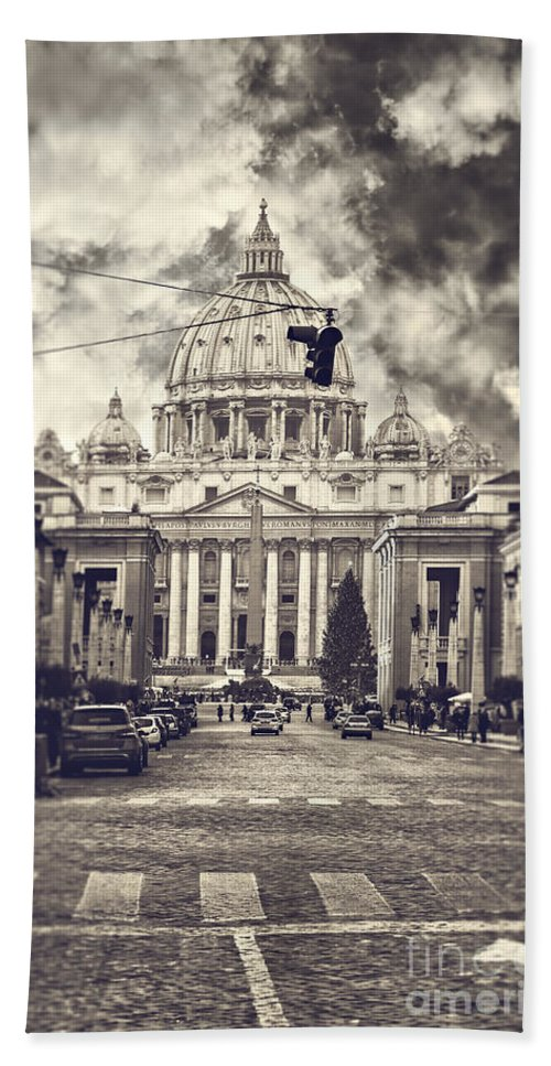 Rome Hand Towel featuring the photograph Saint Peters Basilica Rome by Sophie McAulay