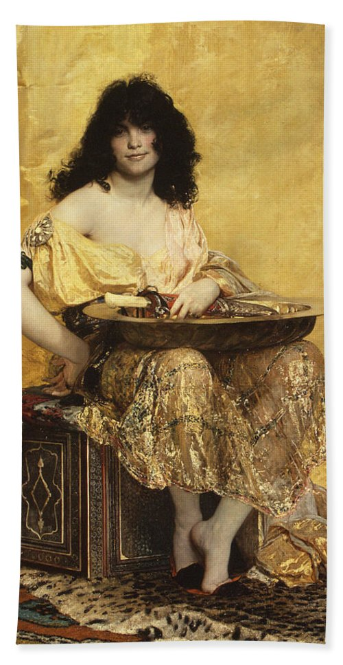 Henri Regnault Bath Sheet featuring the painting Salome by Henri Regnault