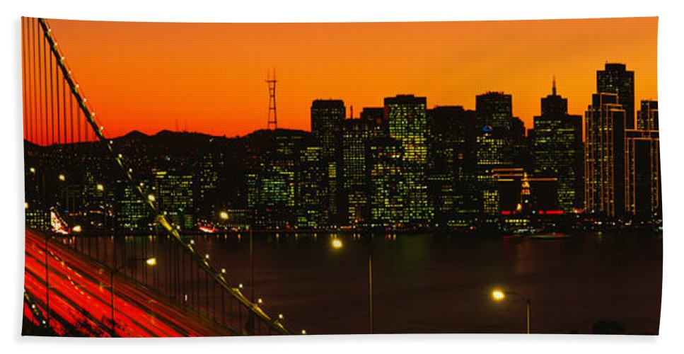 Photography Bath Sheet featuring the photograph San Franscisco Ca by Panoramic Images