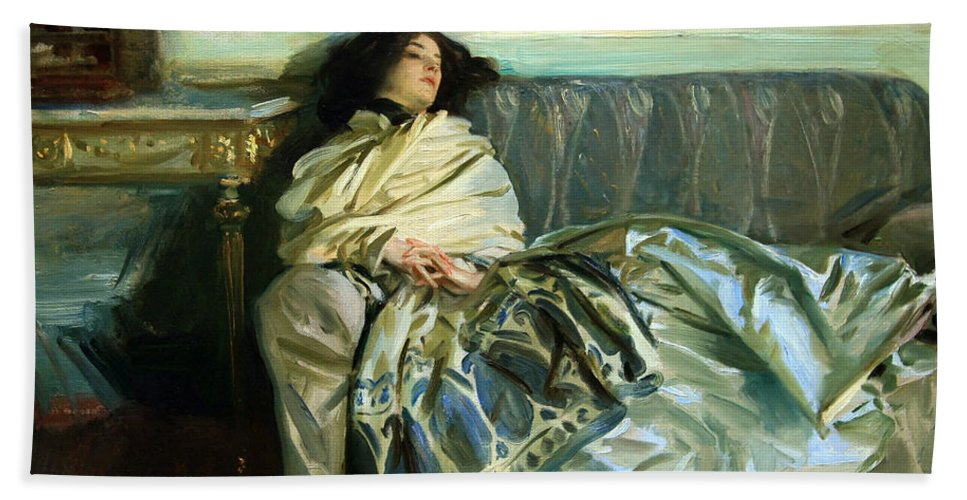 Repose Hand Towel featuring the photograph Sargent's Repose by Cora Wandel