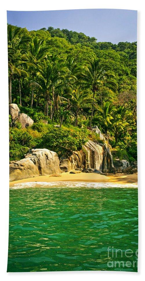 Beach Bath Sheet featuring the photograph Secluded Beach by Elena Elisseeva