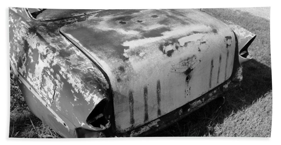 Man Made Hand Towel featuring the photograph Seen Much Better Days by Glenn Aker
