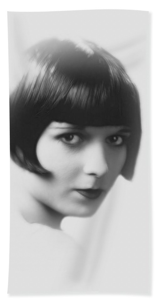 Woman Female Girl Face Portrait Louise Brooks Actress Sensual Beauty 20s Hand Towel featuring the painting Sensual Woman by Steve K