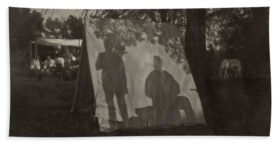 Shadows Hand Towel featuring the photograph Shadows by Kim Henderson