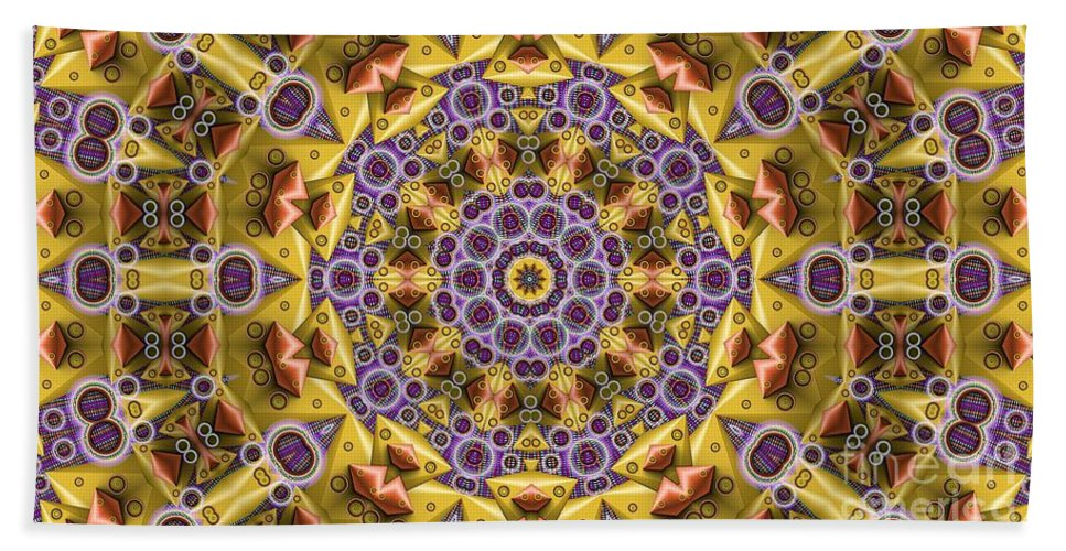 Kaleidosope Hand Towel featuring the digital art Kaleidoscope 43 by Ron Bissett