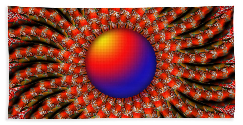 Red Hand Towel featuring the digital art Shine by Robert Orinski