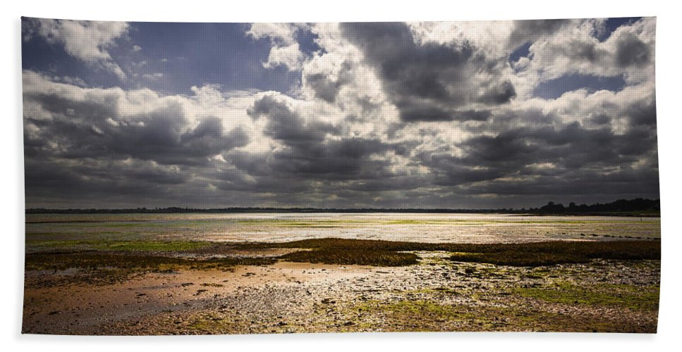 Bay Bath Sheet featuring the photograph Shoreline by Svetlana Sewell