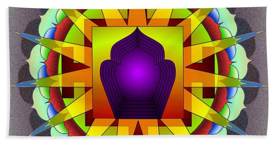 Mandala Art Hand Towel featuring the digital art Simplicity by Mario Carini