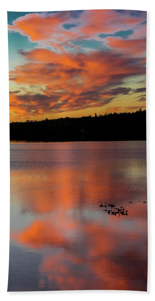 Photography Bath Sheet featuring the photograph Skilak Lake, Alaska, The Aleutian by Panoramic Images