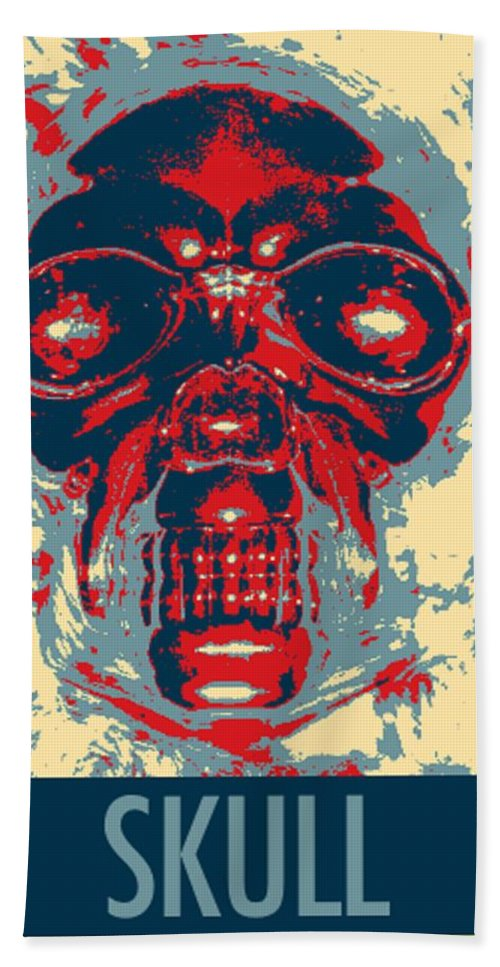 Skull Hand Towel featuring the photograph Skull In Hope by Rob Hans