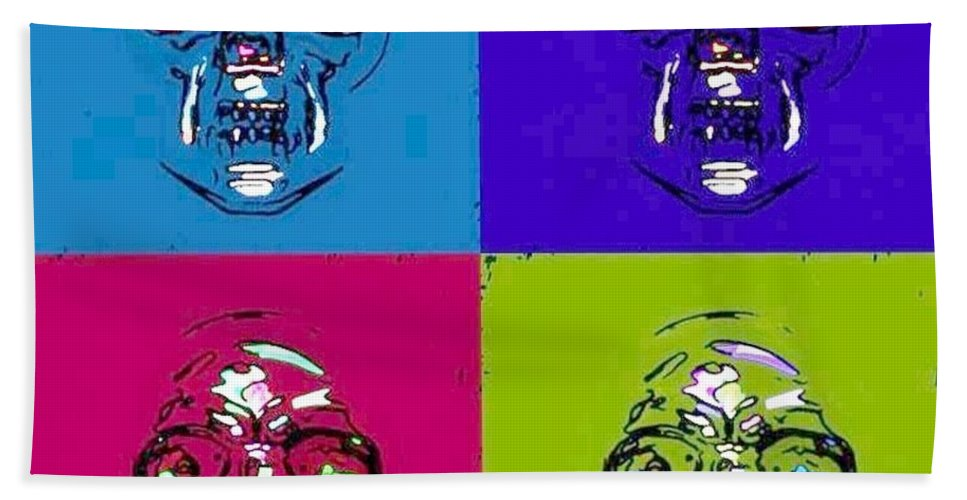 Skull Hand Towel featuring the photograph Skulls In Quad Colors by Rob Hans